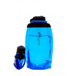Складная эко бутылка VITDAM, синяя, объем 500 мл - артикул B050BLS