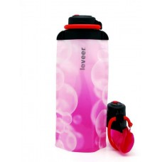Складная эко бутылка VITDAM, розовая, объем 700 мл - артикул B070PIW