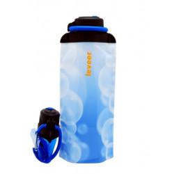 Складная эко бутылка VITDAM, синяя, объем 700 мл - артикул B070SBW