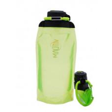 Складная эко бутылка VITDAM, желто-зеленая, объем 860 мл - артикул B086YGS
