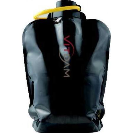 Складная эко бутылка VITDAM, черная, объем 4 л - артикул B400BKS