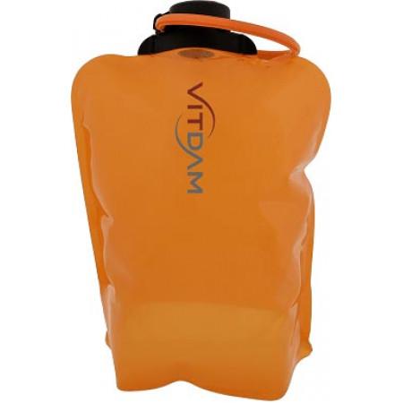 Складная эко бутылка VITDAM, оранжевая, объем 4 л - артикул B400ORS