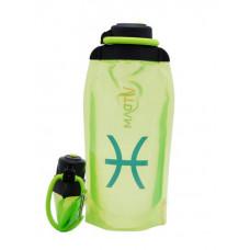Складная эко-бутылка Vitdam, желто-зеленая, 860 мл, Pisces/Рыбы
