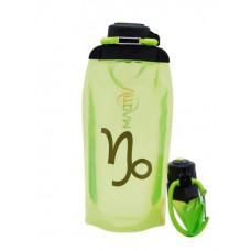 Складная эко-бутылка Vitdam, желто-зеленая, 860 мл, Capricorn/Козерог