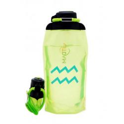 Складная эко-бутылка Vitdam, желто-зеленая, 860 мл, Aquarius/Водолей