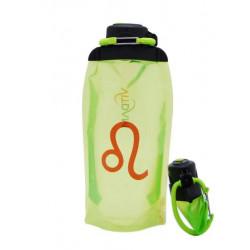 Складная эко-бутылка Vitdam, желто-зеленая, 860 мл, Leo/Лев