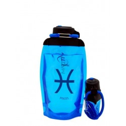 Складная эко-бутылка Vitdam, синяя, 500 мл, Pisces/Рыбы
