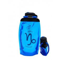 Складная эко-бутылка Vitdam, синяя, 500 мл, Capricorn/Козерог