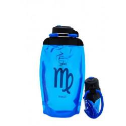Складная эко бутылка VITDAM, синяя, объем 500 мл - артикул B050BLS-1205 рисунок VIRGO/ДЕВА