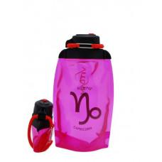 Складная эко-бутылка Vitdam, розовая, 500 мл, Capricorn/Козерог