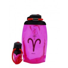 Складная эко-бутылка Vitdam, розовая, 500 мл, Aries/Овен