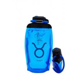 Складная эко-бутылка Vitdam, синяя, 500 мл, Taurus/Телец