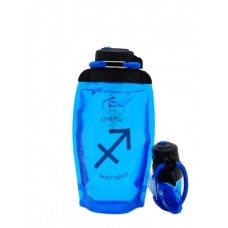Складная эко-бутылка Vitdam, синяя, 500 мл, Sagittarius/Стрелец