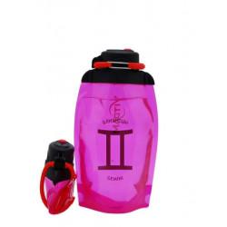 Складная эко-бутылка Vitdam, розовая, 500 мл, Gemini/Близнецы