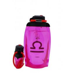 Складная эко-бутылка Vitdam, розовая, 500 мл, Libra/Весы