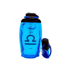 Складная эко бутылка VITDAM, синяя, объем 500 мл - артикул B050BLS-1208 рисунок LIBRA/ВЕСЫ