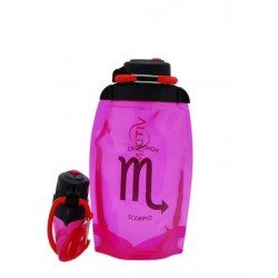 Складная эко-бутылка Vitdam, розовая, 500 мл, Scorpio/Скорпион