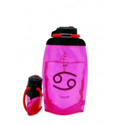 Складная эко-бутылка Vitdam, розовая, 500 мл, Cancer/Рак