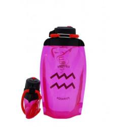 Складная эко-бутылка Vitdam, розовая, 500 мл, Aquarius/Водолей