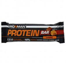 """Батончик """"IRONMAN"""" """"Protein Bar"""" с коллагеном, 35г - Карамель/тёмная глазурь- 30 шт"""