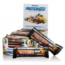 """Батончик """"IRONMAN"""" """"Protein Bar"""" с коллагеном, 50г - Орех/тёмная глазурь- 24 шт"""