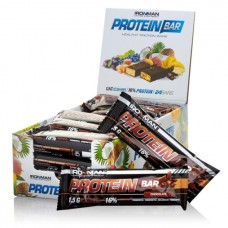 """Батончик """"IRONMAN"""" """"Protein Bar"""" с коллагеном, 50г - Шоколад/тёмная глазурь- 24 шт"""