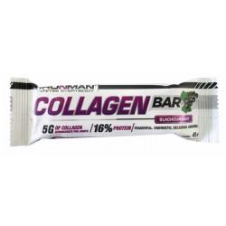 """Батончик """"IRONMAN"""" """"Collagen Bar"""", 45г - Чёрная смородина/тёмная глазурь- 24шт"""