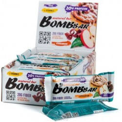 Батончик протеиновый Bombbar - коробка 20 шт., Яблоко-корица