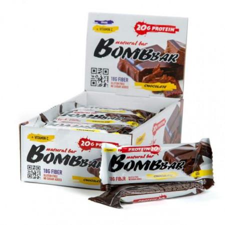BOMBBAR протеиновый батончик - коробка 20 шт., двойной шоколад