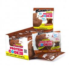 Печенье неглазированное Bombbar 40гр - коробка 12 шт., Шоколадный брауни