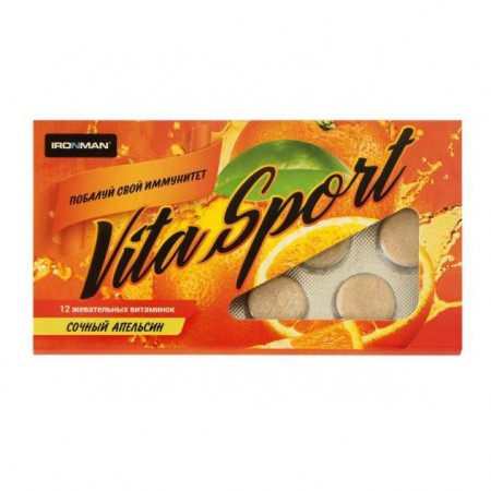 Витаминный комплекс Ironman Vita Sport 12 таблеток, апельсин