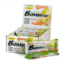 Батончик протеиновый Bombbar - коробка 20 шт., Фисташковый пломбир
