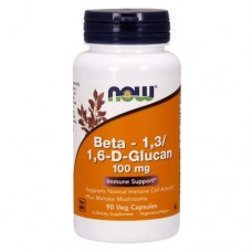 NOW Beta Glucan - 90 капсул - бета глюкан для поддержки иммунитета