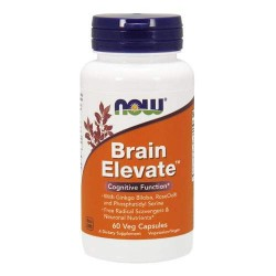 NOW Brain Elevate - 60 капсул - препарат для улучшения работы головного мозга