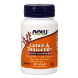 NOW Lutein Zeaxanthin - 60 капсул - комплекс антиоксидантов лютеин и зеаксантин для глаз