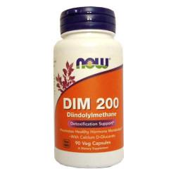 NOW DIM 200 - 90 капсул - дииндолилметан, препарат для детоксикации печени