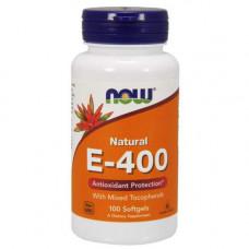 Витамин E NOW Sports E-400 Mixed Tocopherols 100 капсул