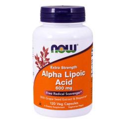 NOW Alpha Lipoic Acid 600 мг - 120 капсул - альфа-липоевая кислота