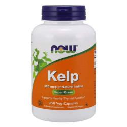 NOW Kelp 325 мкг - 250 капсул - Келп, бурая водоросль - природный источник йода
