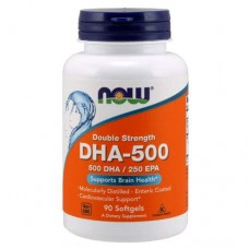 NOW DHA - 500 - 500 DHA/250 EPA - 90 капсул - ненасыщенные жирные кислоты