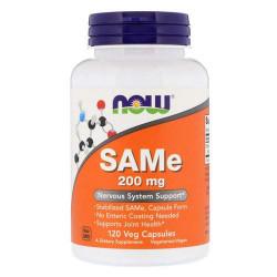 NOW SAMe 200 мг - 120 капсул - адеметионин, препарат для лечения печени