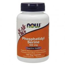 NOW Phosphatidyl Serine 100 мг - 120 капсул - фосфатидилсерин комплекс холин и инозитол