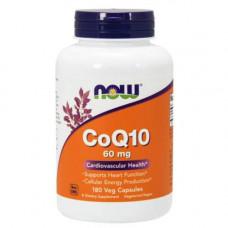 NOW CoQ10 60 мг - 180 капсул - коэнзим q10 для улучшения работы сердца