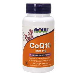 NOW CoQ10 200 мг - 60 капсул - коэнзим q10 для сердца