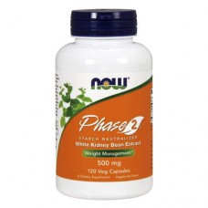 NOW Phase 2 - 120 капсул - блокатор калорий, экстракт белой фасоли