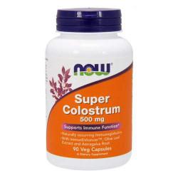 NOW Super Colostrum 500 мг - 90 капсул - Супер колострум, источник иммуноглобулинов