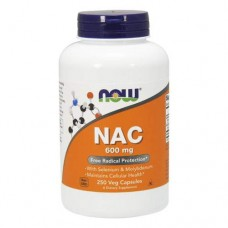 NOW NAC 600 мг with Selenium and Molybdenum - 250 капсул
