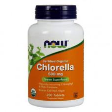 NOW Chlorella 500 мг - 200 таблеток - Хлорелла водоросль
