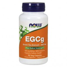 NOW EGCg Green Tea Extract 400 мг - 90 капсул - Эпигалокатехин Галат, зеленый чай