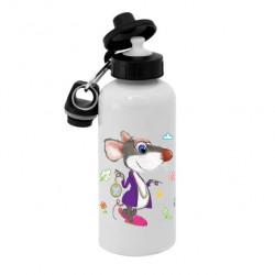 Спортивная бутылка для воды BjK, Б_2020_02 Символ года Крыса - Кого обидела